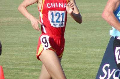 Chai Xue of China wins the 5000m Walk in Sydney (David Tarbottom)