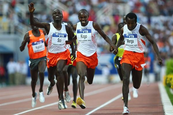 Imane Merga wins an extremely close 5000m from Micah Kogo and Edwin Soi (Getty Images)