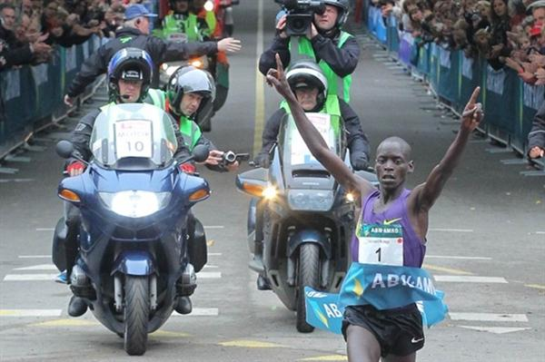 Sensational 26:44 World record in the 10Km for Leonard Komon in Utrecht (Aktiefoto)