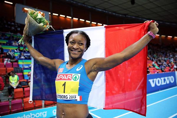 Antoinette Nana-Djimou successfully defends her European Indoor Pentathlon crown (Getty Images)