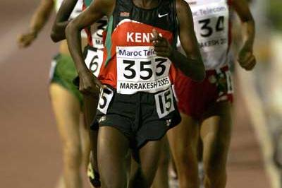 Veronica Nyaruai Warijiru of Kenya runs during the 3000m final at the World Youth Championships (Getty Images)