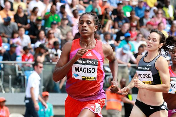 Another Ethiopian national 800m record for Fantu Magiso, this time in New York (Victah Sailer)