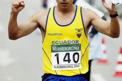Jefferson Perez (ECU) wins Naumburg 20km (Getty Images)