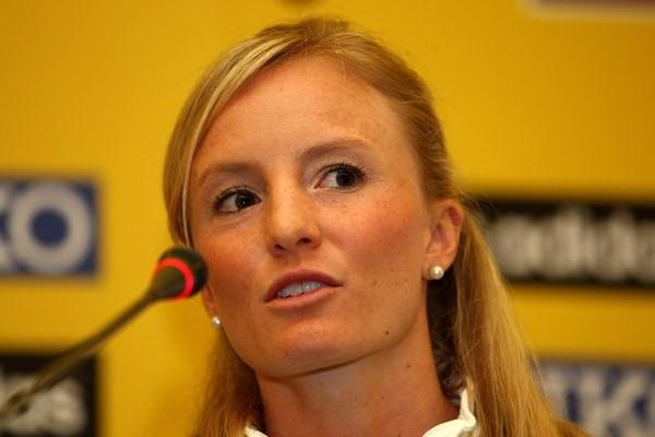Shalane Flanagan of the USA at the pre-event Press Conference at the IAAF World Cross Country Championships (Getty Images)