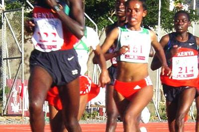 Edith Masai at the African Championships in Mauritius (Mark Ouma)