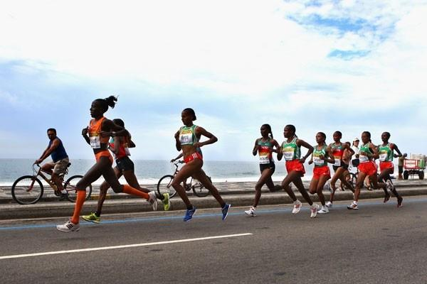 Lornah Kiplagat leads the Kenyan and Ethiopian runners (Getty Images)