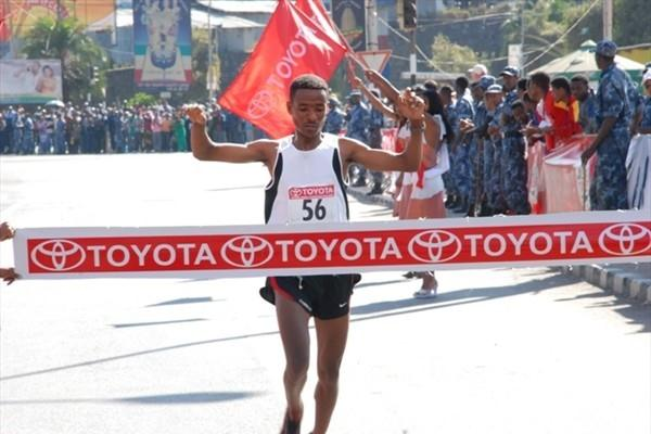 Chala Dechasa takes a surprise victory in Addis Ababa (Nahom Tesfaye)
