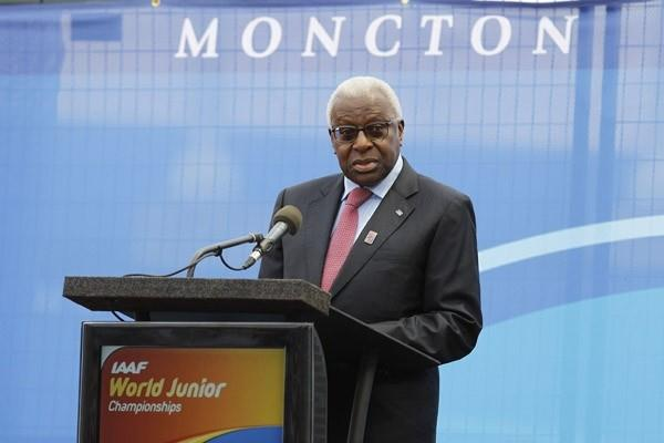 IAAF President Diack at the Opening Ceremony of the IAAF World Junior Championships in Moncton (Getty Images)