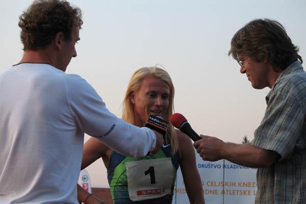Jolanda Ceplak - national Mile record in Celje, Slovenia (Bob Ramsak)
