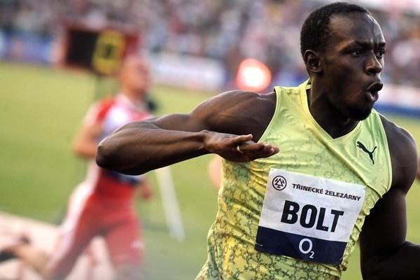 Usain Bolt in Ostrava (AFP / Getty Images)