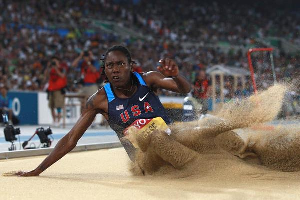 Brittney Reese defends her World Championships Long Jump title  (Getty Images)