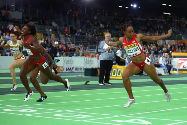 Nia Ali wins the 60m hurdles at the IAAF World Indoor Championships Portland 2016 (Getty Images)