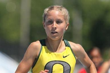 Jordan Hasay on her way to the 1500m title at the 2010 USATF Jnrs (Victah Sailer)