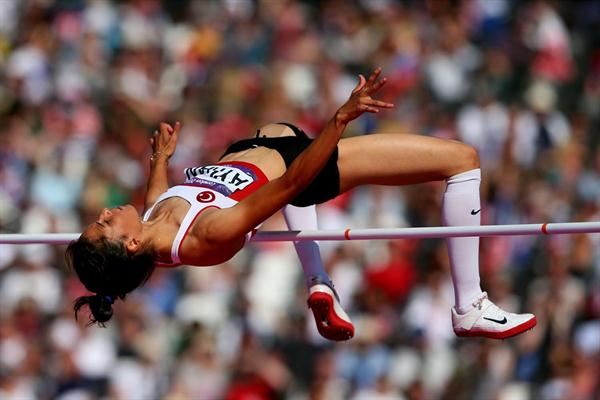 Burcu Ayhan of Turkey is qualified for the  Women's High Jump final - London 2012 Olympic Games  on August 9, 2012 (Getty Images)
