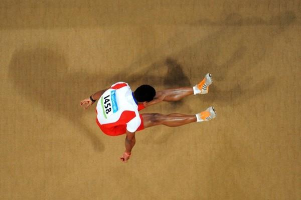 Ibrahim Camejo of Cuba takes long jump bronze in the final round (Getty Images)