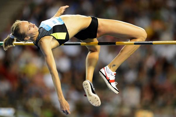 Svetlana Shkolina, winner of the High Jump at the 2012 Diamond League final in Brussels (Jiro Mochizuki)