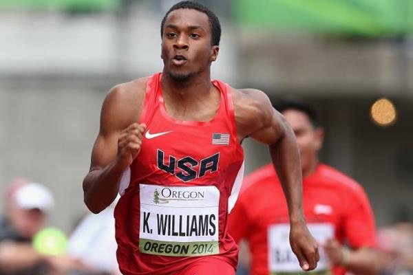 USA's Kendal Williams in the 100m at the 2014 IAAF World Junior Championships in Eugene (Getty Images)