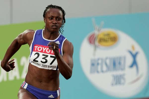 Eunice Barber in the Heptathlon's 200m (Getty Images)