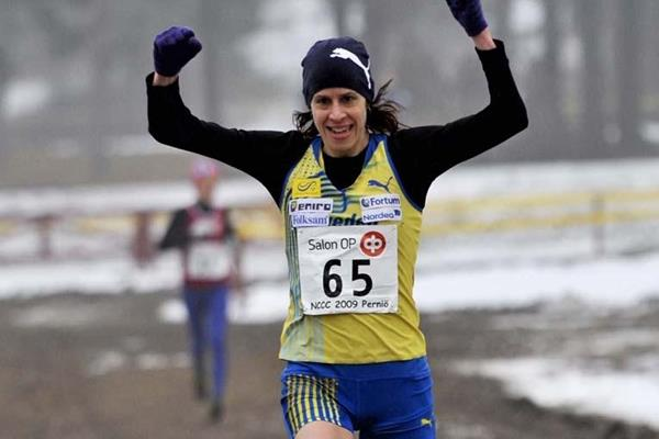Sweden's Ulrika Johansson scores an upset victory at the Nordic Cross Country Championships (Hasse Sjögren)