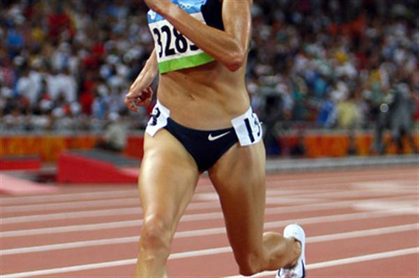 Shalane Flanagan approaches the finish line in disbelief that she has won the 10,000m Olympic bronze medal (Getty Images)