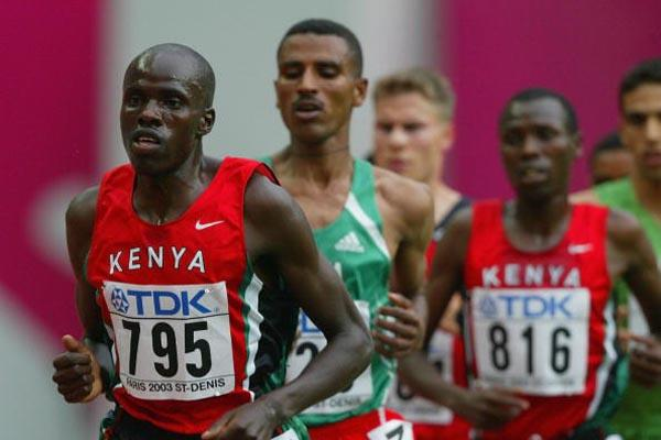 Abraham Chebii in action in the 5000m heats (Getty Images)