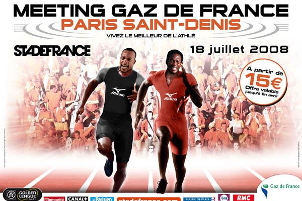 Poster for the Meeting Gaz de France Paris Saint-Denis 2008 (organisers)