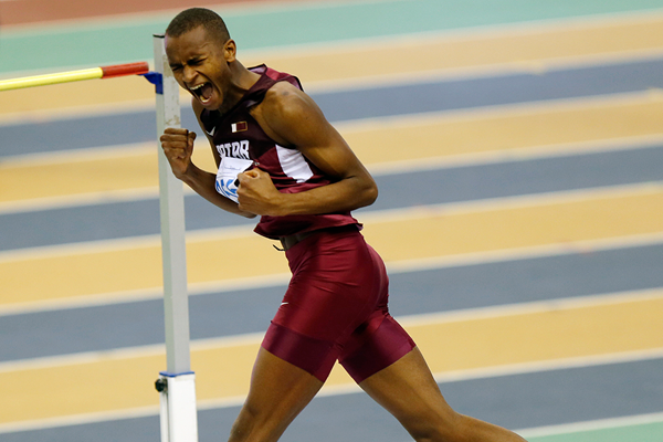 Mutaz Essa Barshim wins the high jump at the Asian Indoor Championships (Organisers)