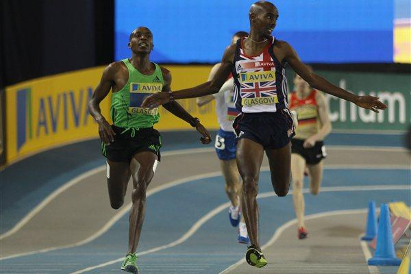 Mo Farah wins the 1500m in Glasgow (Getty Images)