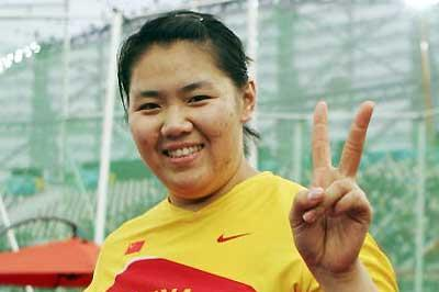 Zhang Wenxiu celebrates her win at the Asian Games (Getty Images)