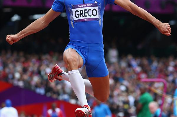 Daniele Greco of Italy in action in the Men's Triple Jump Qualification on Day 11 of the London 2012 Olympic Games at Olympic Stadium on August 7, 2012 (Getty Images )