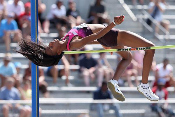 Brigetta Barrett, winner of the High Jump at the 2013 US Championships (Getty Images)