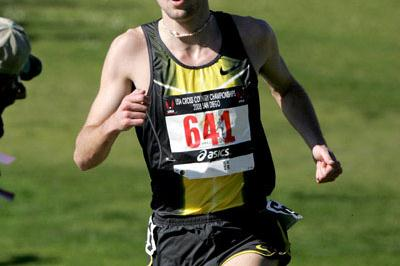 Dathan Ritzenhein en route to the US 12km title in San Diego (Andrew McClanahan/Photo Run)