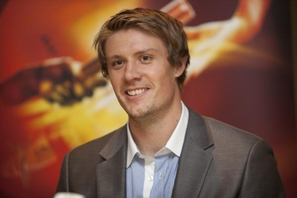 Andreas Thorkildsen on the eve of the World Athletics Gala (Phillipe Fitte)
