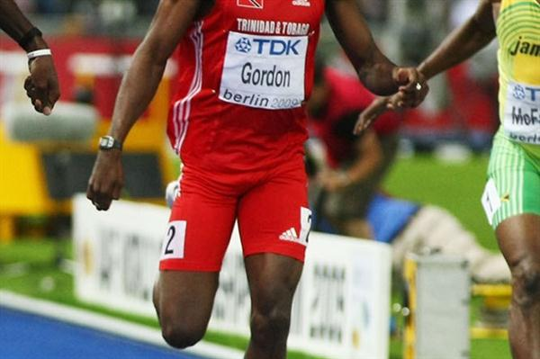 Jehue Gordon at the 2009 World Championships in Berlin (Getty Images)