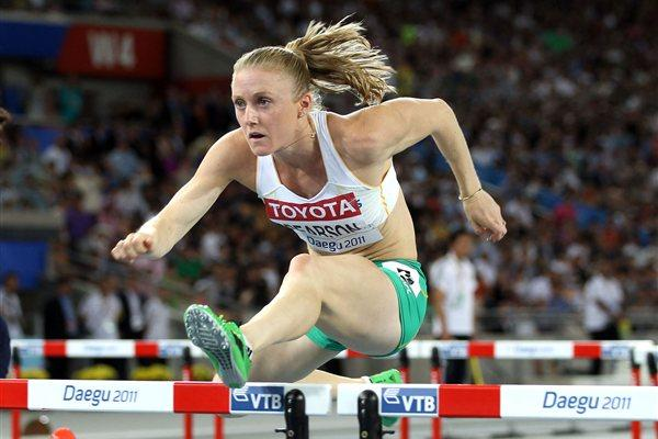 Sally Pearson of Australia competes on her way to victory in the women's 100 metres hurdles final  (Getty Images)