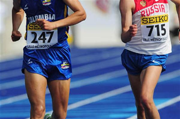 Pavel Parshin sprints to win the World 10,000m Race walking final in Lille (Getty Images)