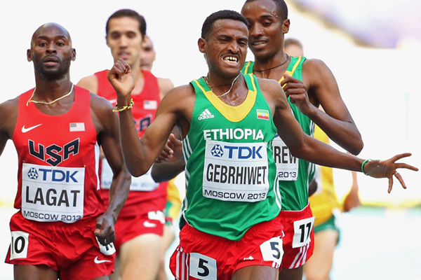 Hagos Gebrhiwet in action at the IAAF World Championships (Getty Images)
