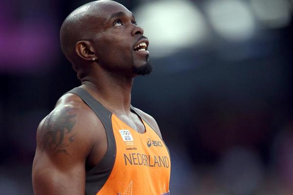 Churandy Martina of Netherlands looks on prior to the Men's 100m Semifinal on Day 9 of the London 2012 Olympic Games at the Olympic Stadium on August 5, 2012 (Getty Images)