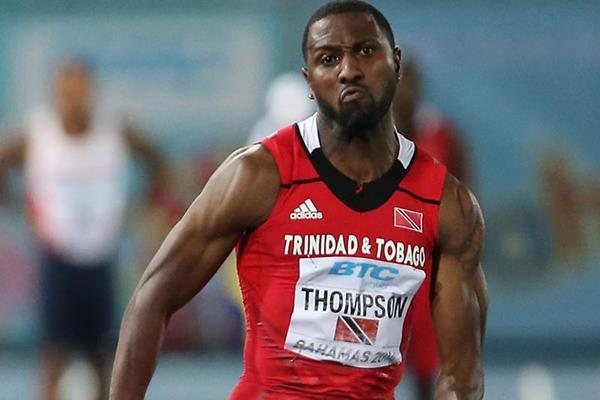 Richard Thompson anchors Trinidad and Tobago in the 4x100m at the IAAF World Relays (Getty Images)