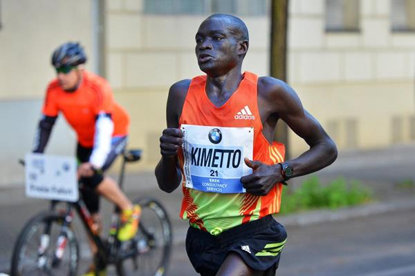 Dennis Kimetto in action at the 2012 BMW Berlin Marathon (Organisers)