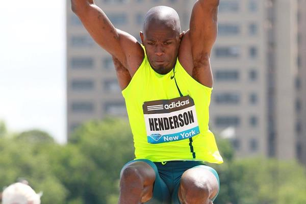Jeffrey Henderson at the 2014 IAAF Diamond League meeting in New York (Victah Sailer)