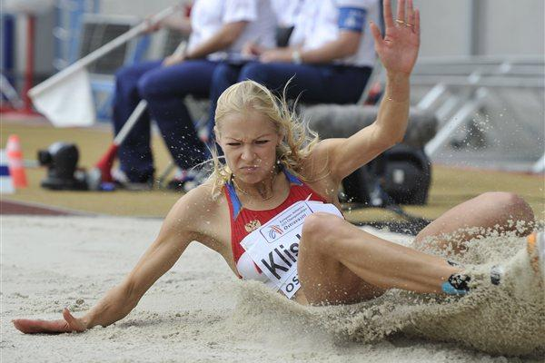 Darya Klishina sails a PB 7.05m to take the European U23 title (Deca Text & Bild)