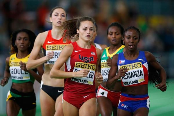 Laura Roesler in the 800m heats at the IAAF World Indoor Championships Portland 2016 (Getty Images)