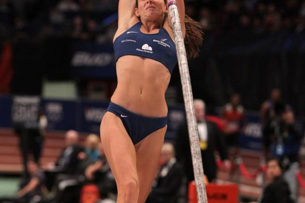 Fabiana Murer at the 104th Millrose Games (Errol Anderson)