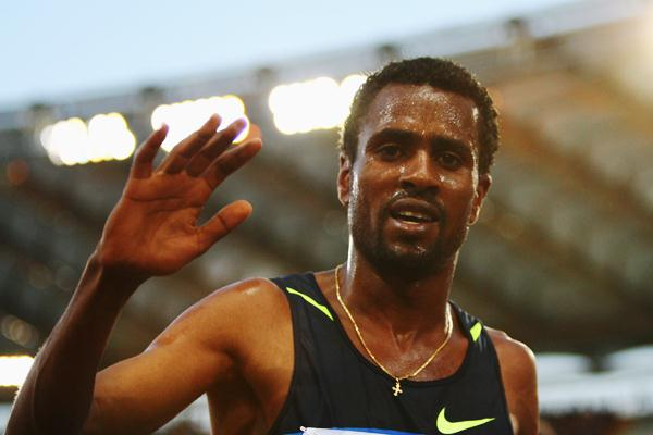 Sileshi Sihine takes the 5000m win in Rome (Getty Images)