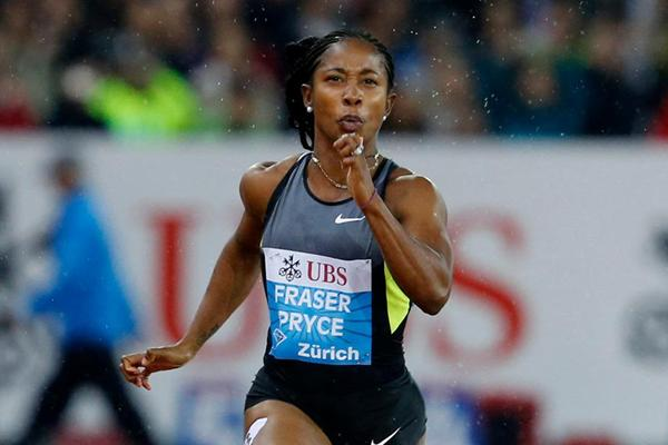 Shelly-Ann Fraser-Pryce, 10.83 in the Zurich chill (Gladys Chai van der Laage)