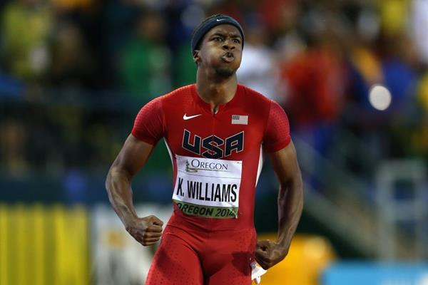 100m winner Kendal Williams at the IAAF World Junior Championships, Oregon 2014 (Getty Images)