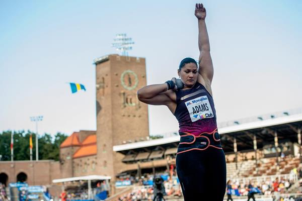 Valerie Adams in action at the 2013 IAAF Diamond League meeting in Stockholm (Anders Sjogren)