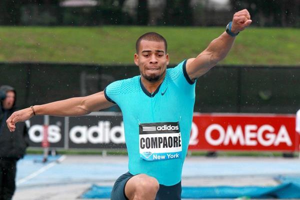 Benjamin Compaore at the IAAF Diamond League meeting in New York (Victah Sailer)