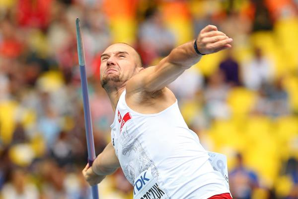 Lukasz Grzeszczuk of Poland, winner of the men's Javelin (Getty Images)